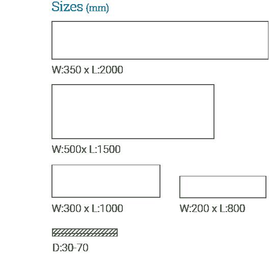 SlateWood Paving sizes available