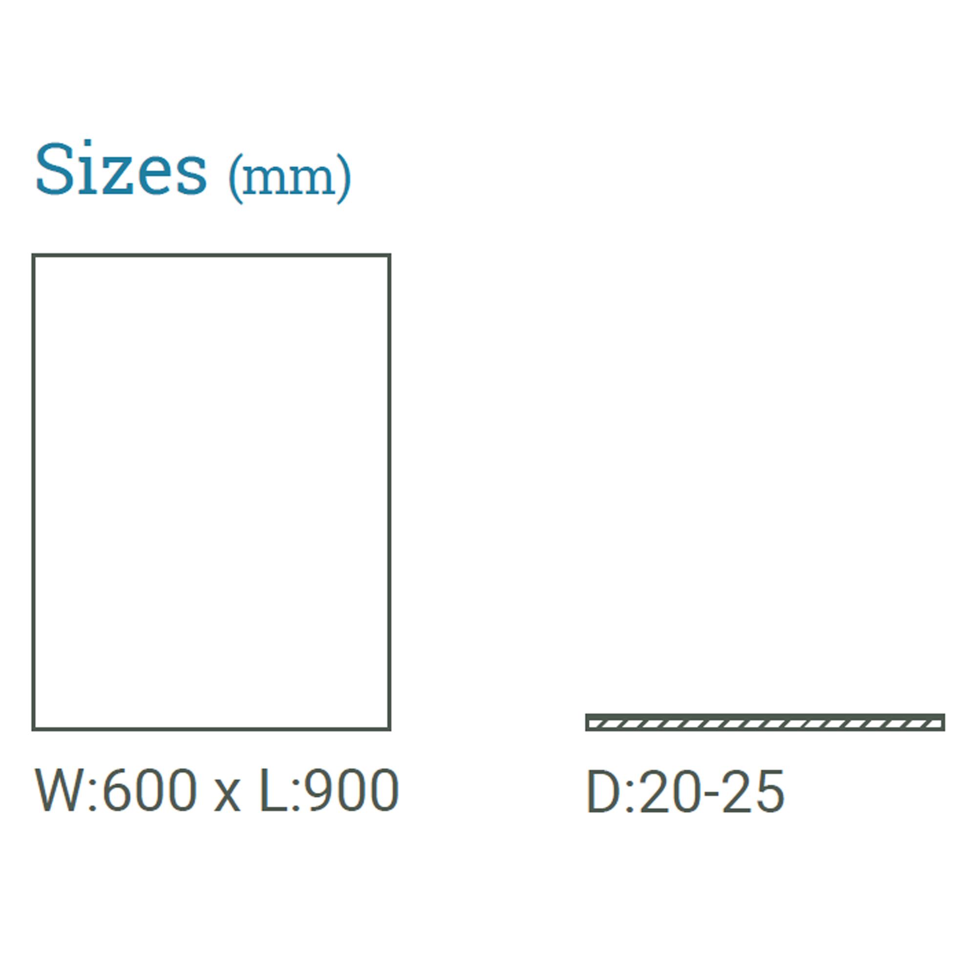Black Slate Paving sizes available
