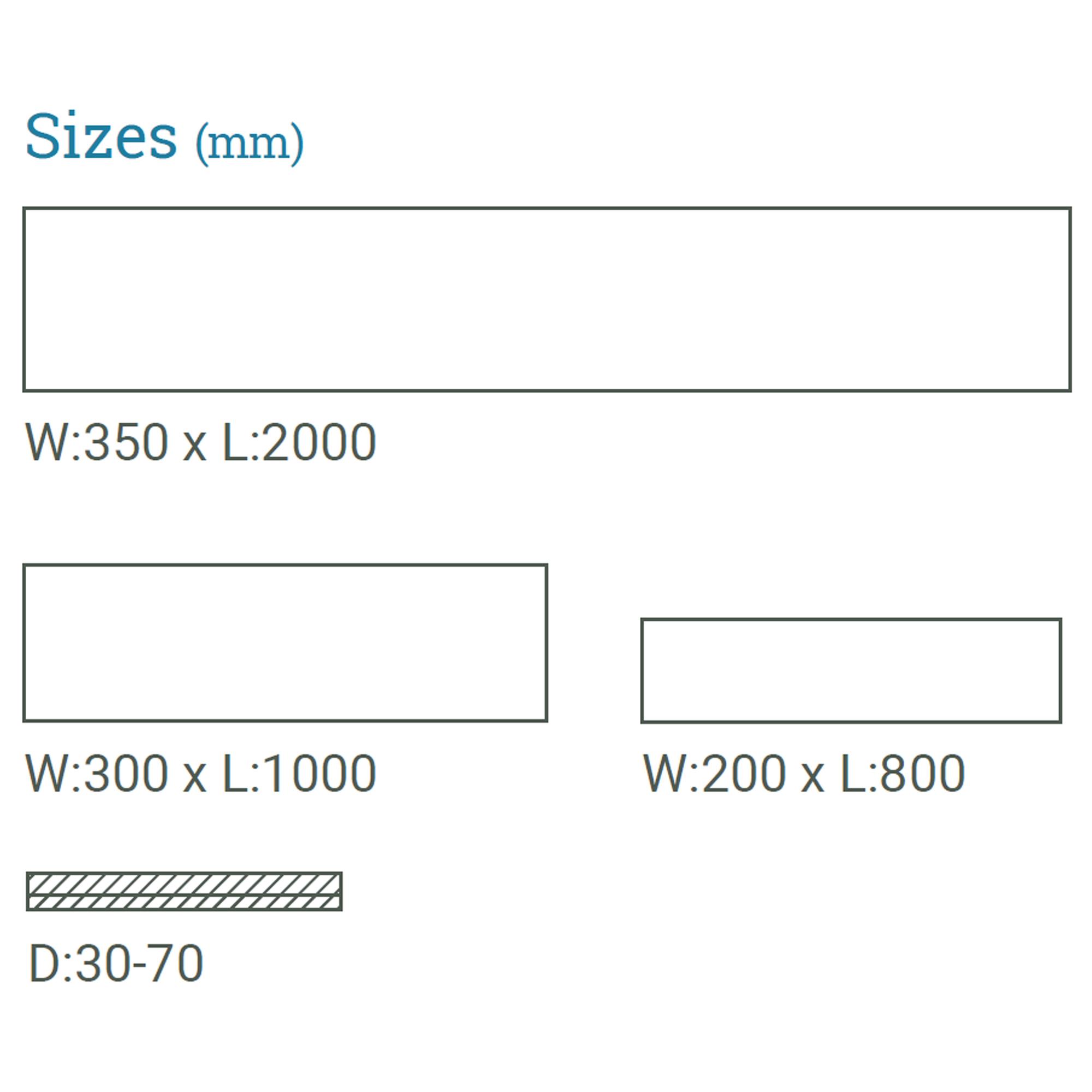 SlateWood sizes available