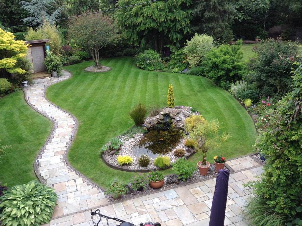 Beige Riven Indian Paving Project Pack. Private garden by Alan Rowan Landscape Gardener