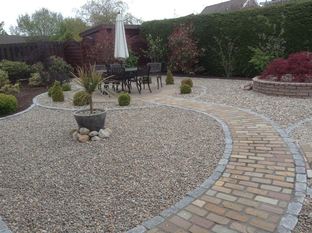 Cathedral Tumbled Sandstone Setts, Rustic. Private Garden by Alan Rowan Landscape Gardener.