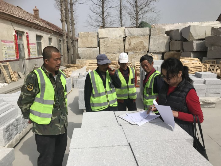 Health and safety training at the Jinan Factory, arranged by CED Stone Group…
