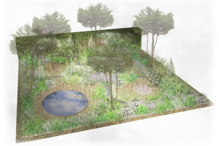 Alexandra's initial Hampton Court design…