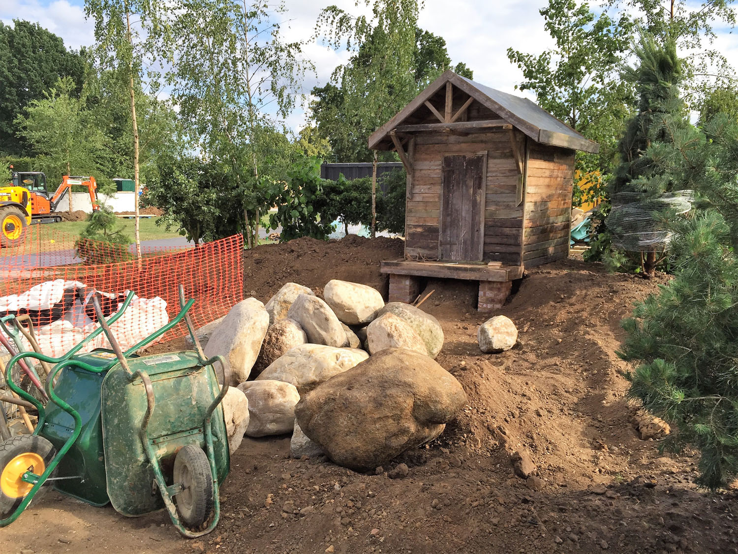 How To Use Boulders: 'The Viking Cruises Nordic Lifestyle Garden' At RHS Hampton Court Flower Show