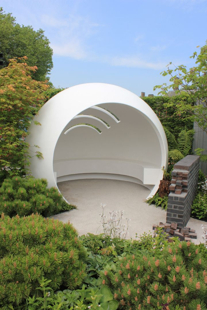 The 'pod' represents a clinic and a cocoon of safety from the outside world…