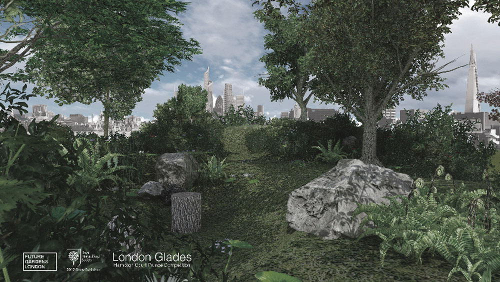 Render image of the Future Glades Garden