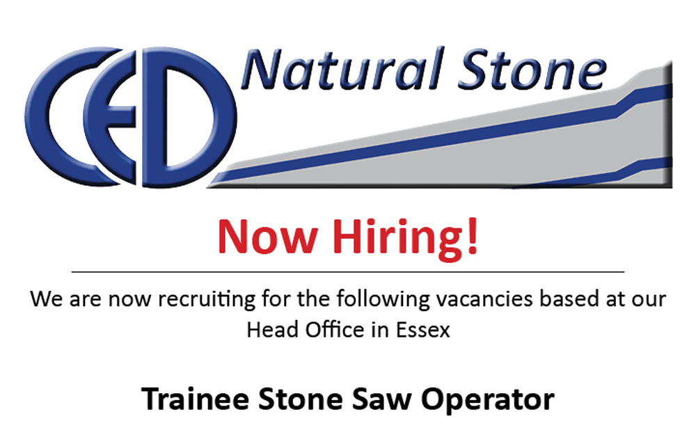 Join The Team! Trainee Stone Saw Operator