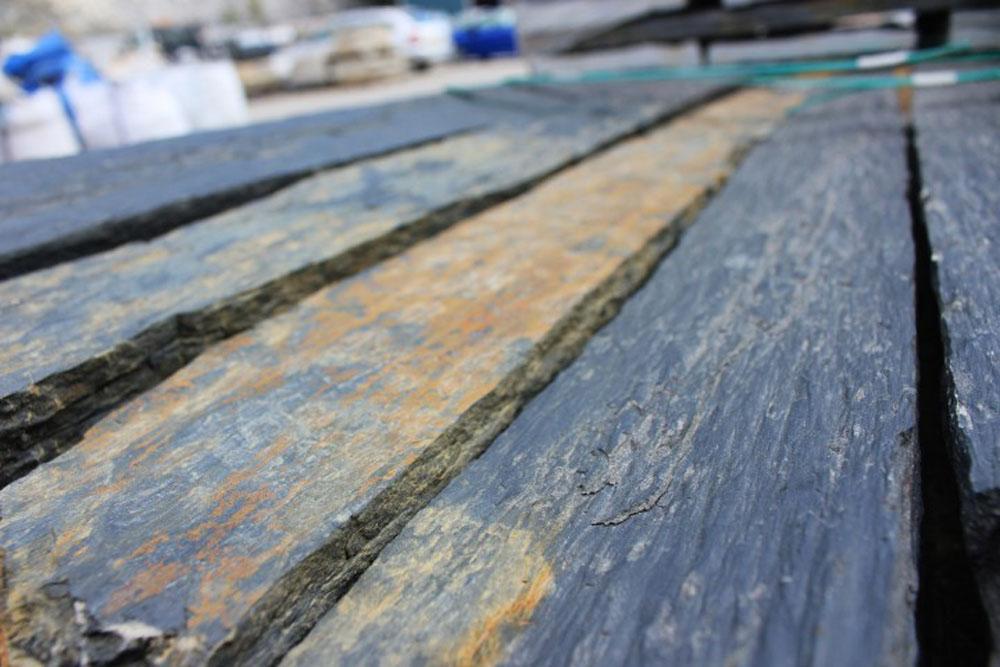 Slatewood has a grainy, 'bark' texture…