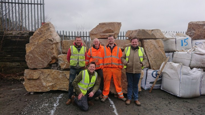 The Trailfinders Dream Team with the guys from CED Stone Scotland