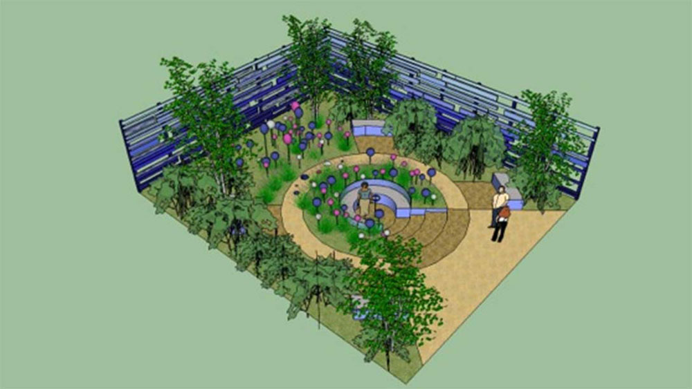 Cancer Research UK's Life Garden at RHS Hampton Court Palace Flower Show