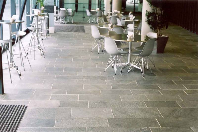 Internal use of Alta Quartzite Paving at The Urbis Centre' Manchester