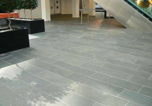 Internal use of Alta Quartzite Paving. BG Group' Reading