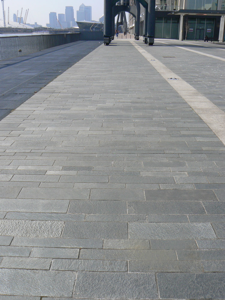 Alta Quartzite paving at Excel Hotel' London. For further images and information on this job please visit our Projects Gallery.