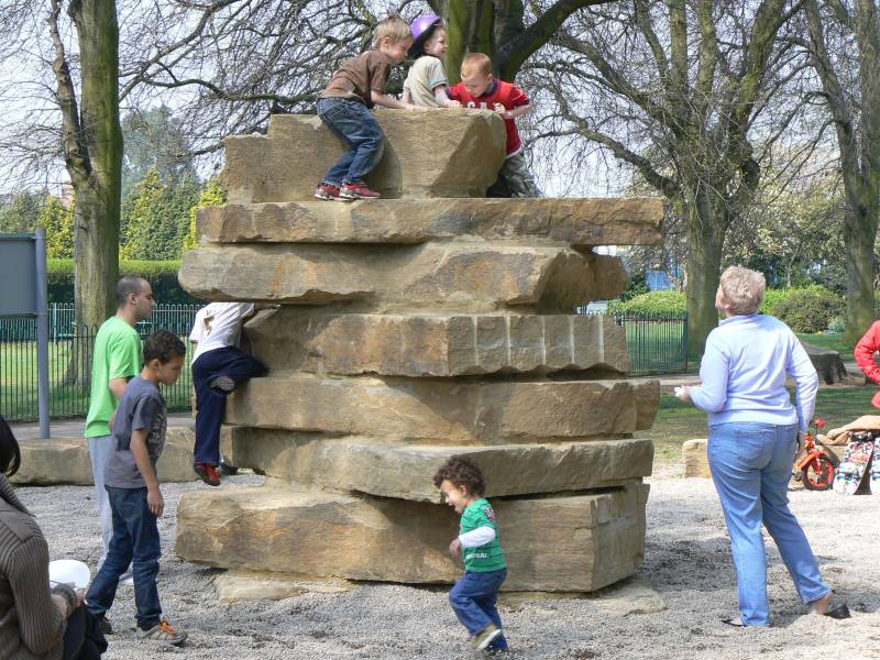 Yorkstone Climbing Tower' with Gravelsafe' at Bush Hill Park
