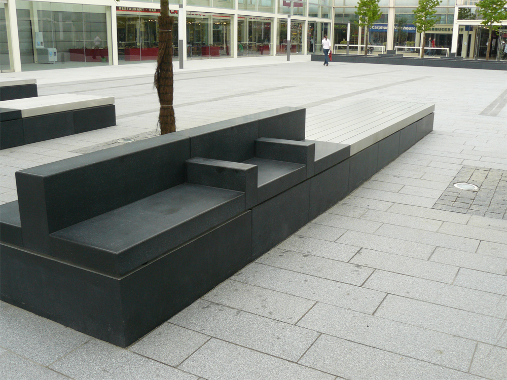 Benches. Queens Court' Milton Keynes. Contractor - Parkstone Construction.