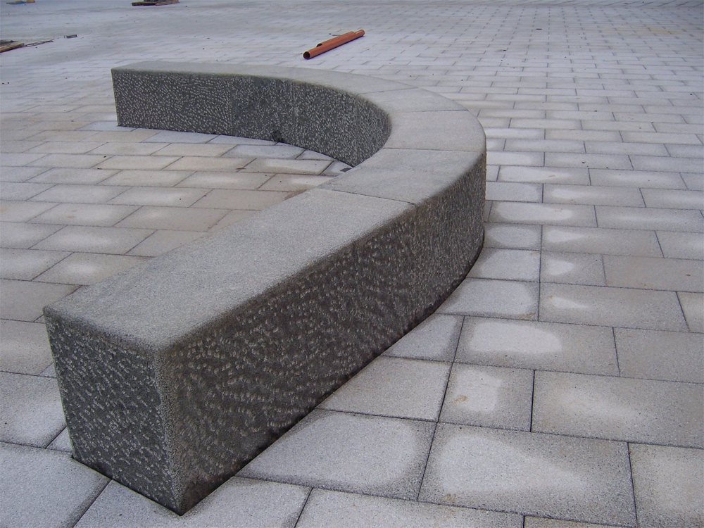 Granite benches at The Oasis Academy Wintringham' Grimsby. Contractor - Clugston Construction.