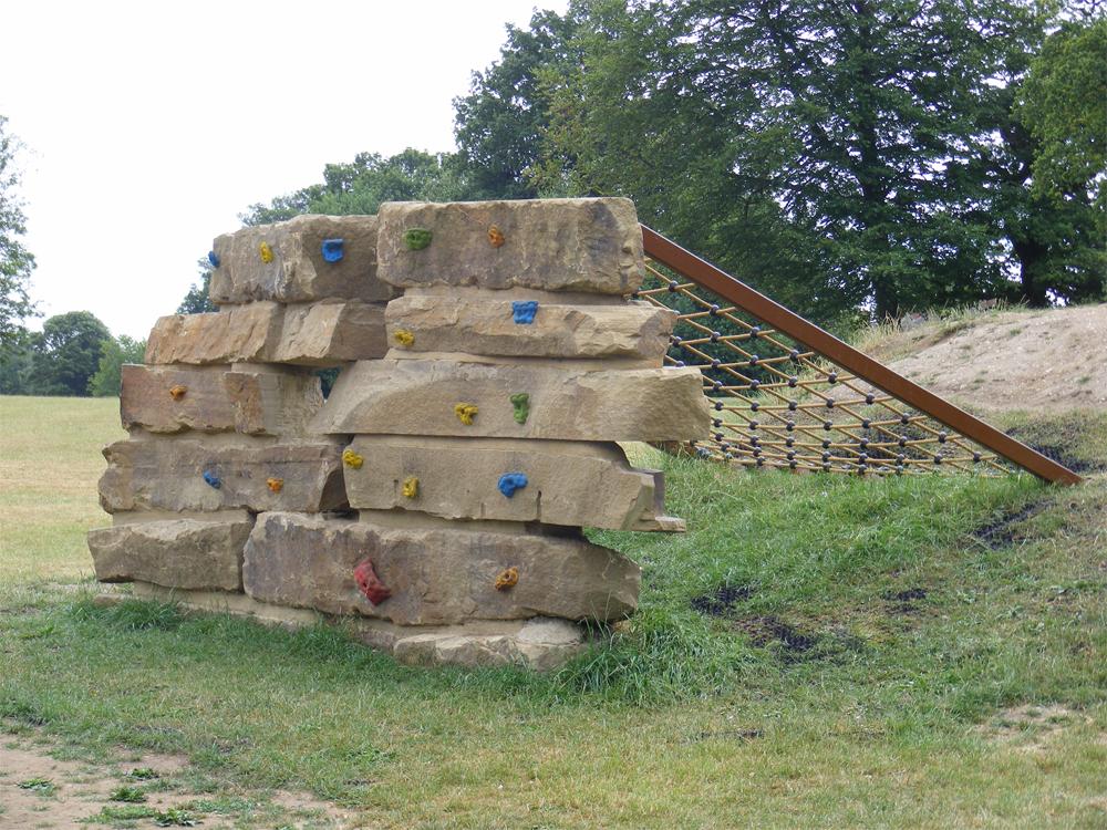 Yorkstone Climbing Wall at Shephalbury Park