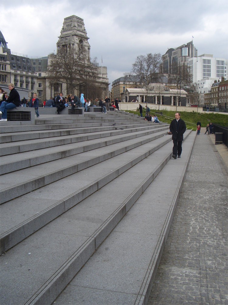 Blue Grey Granite Steps' Tower of London. Designer - Stanton Williams. Contractor - Szerelmey. For further images and info on this job please go to our Projects Gallery.