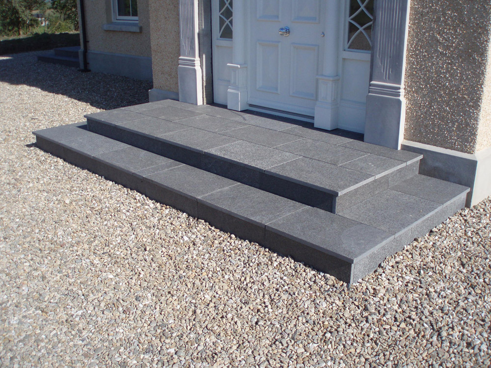 Black basalt with a local gravel. Private house' in Ireland' designed and built by Sam Sayres.