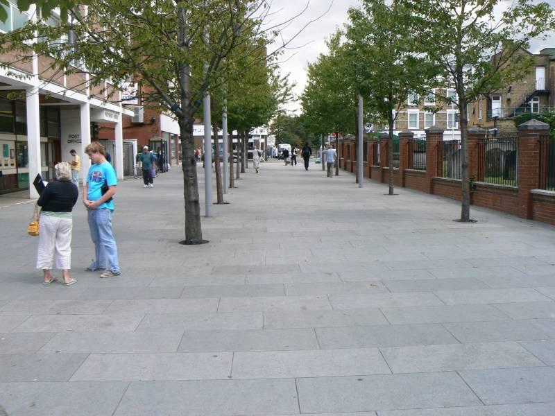 Blue Grey Granite Paving' Acton Square.