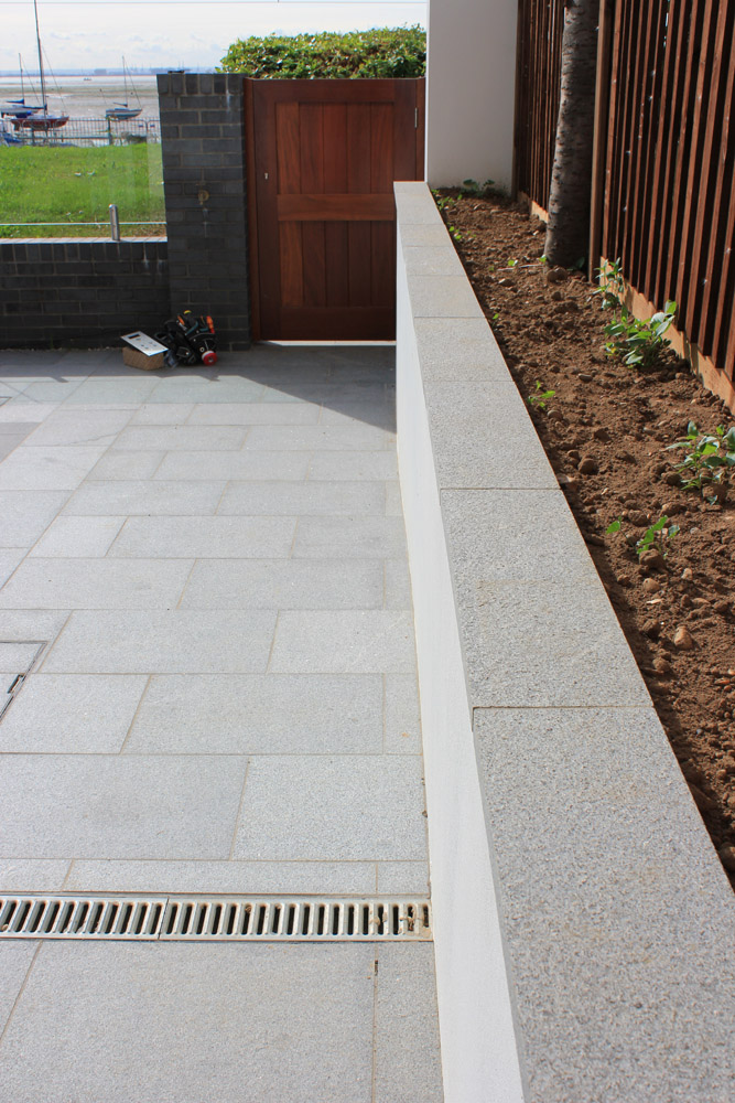 Blue Grey Granite paving at a private property designed and built by Alan Carvosso. For further images of this job please visit our Projects-Private Places Gallery.