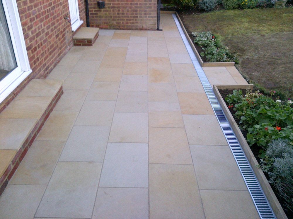 Buff Sandstone Paving In A Private Garden By Arbour Design