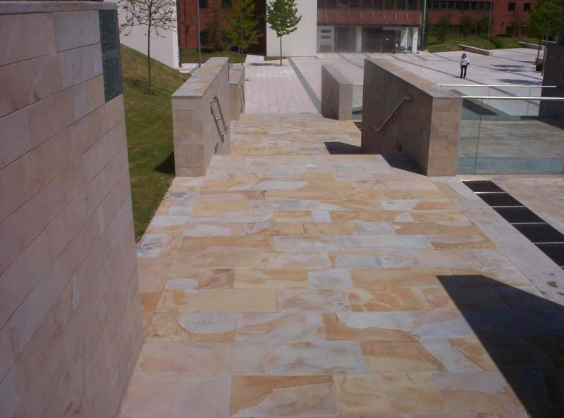 Sawn Sandstone Paving' Booths Hall' Cheshire.