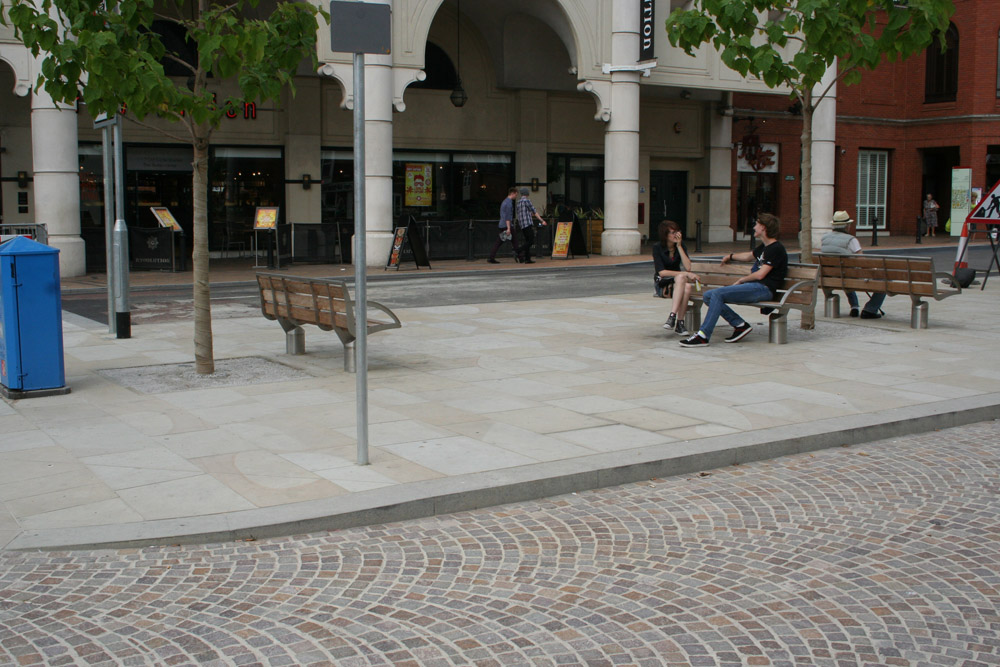 Yorkstone Paving and Porphyry Setts at Dogs Head Street' Ipswich. For further photos and information on this job please visit our Projects-Public Spaces Gallery.