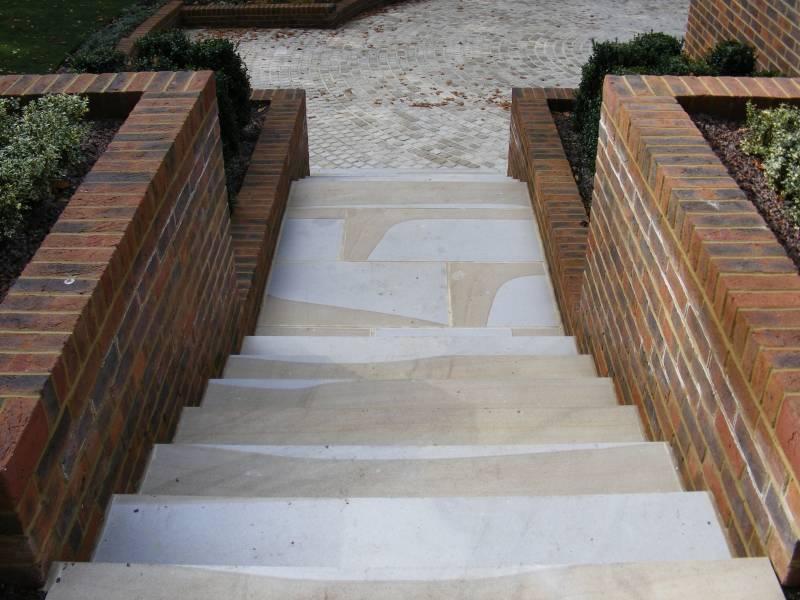 Sawn Yorkstone Paving Steps' Private House.