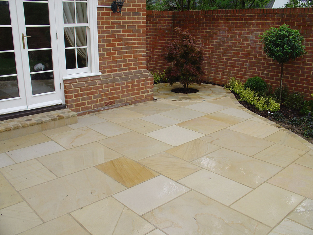 Sandstone paving buff ced ltd for all your natural stone for Green pavers