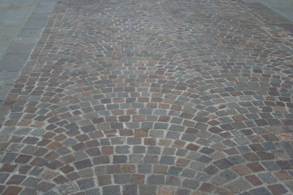 Porphyry setts and edging at Gloucester Quays. For further images and information on this job please visit our Projects-Public Spaces gallery.