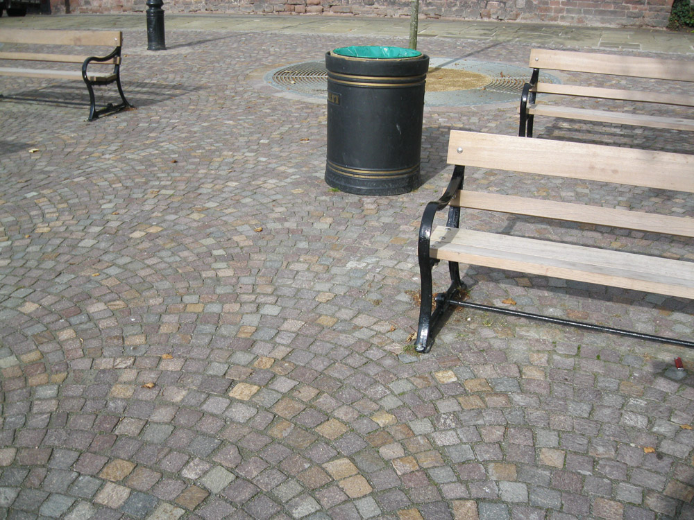 Porphyry setts' The Groves' Chester. For further images and details of this job please visit our Projects Gallery.