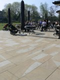 Sawn Yorkstone paving at Clissold House' London.