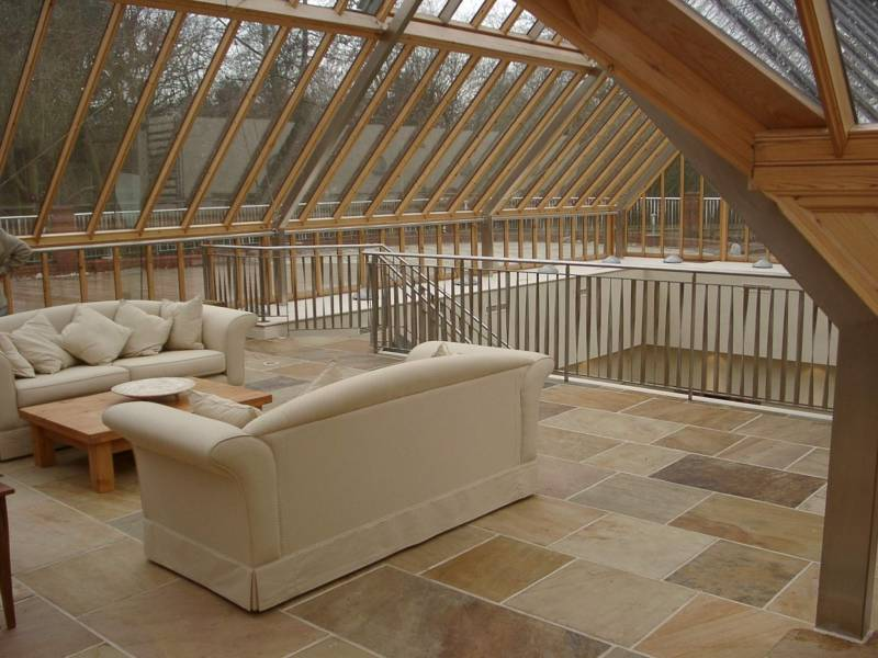 Internal use of Donegal Quartzite Paving in Private house.