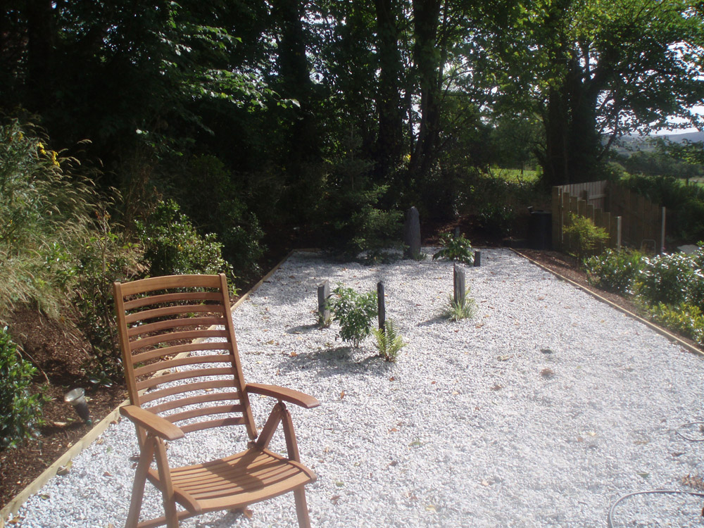 Meadowgrass marble in a private garden designed and built by Maurice Maxwell Garden Design.