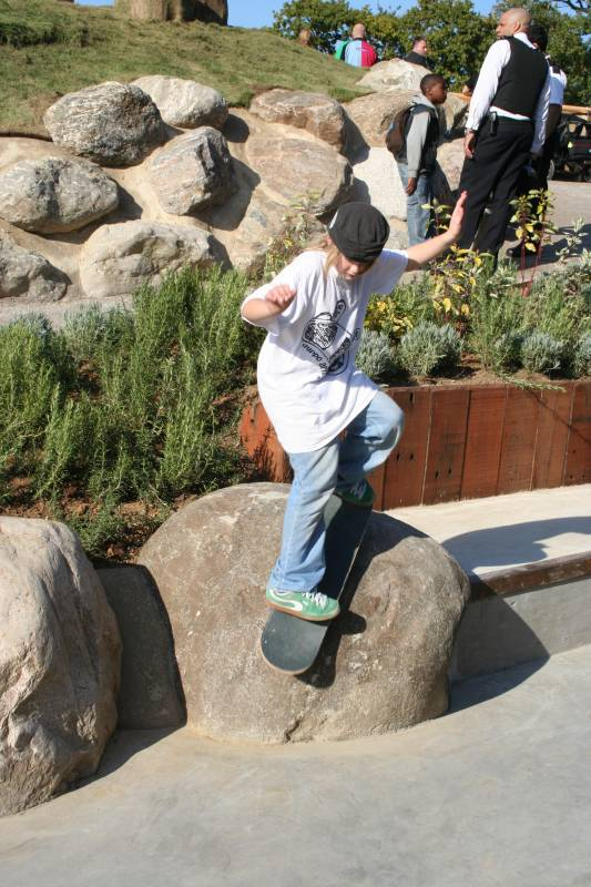 Boulders at Jubilee Way Playscape 2008