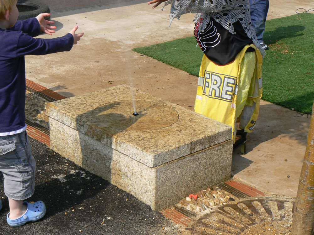 Bespoke granite water feature at a London based Children and Parent Centre.
