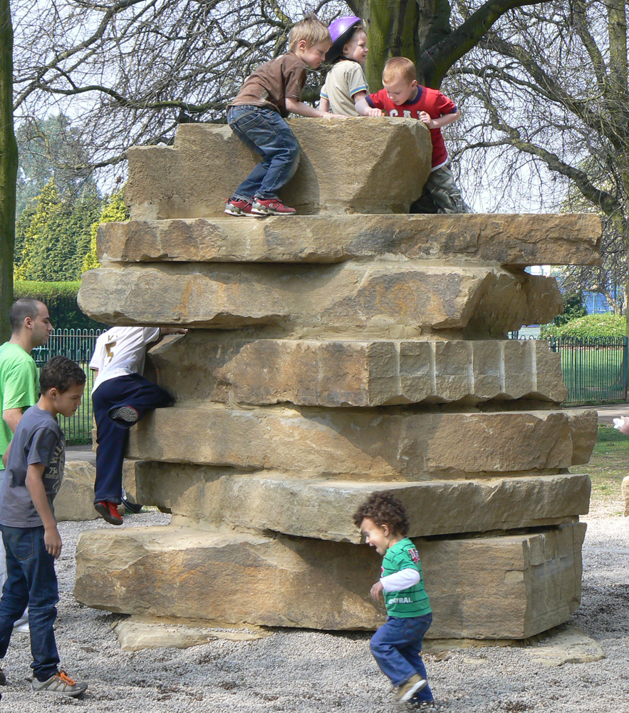 Gravelsafe® and a yorkstone climbing feature at Bush Hill Park' Enfield.