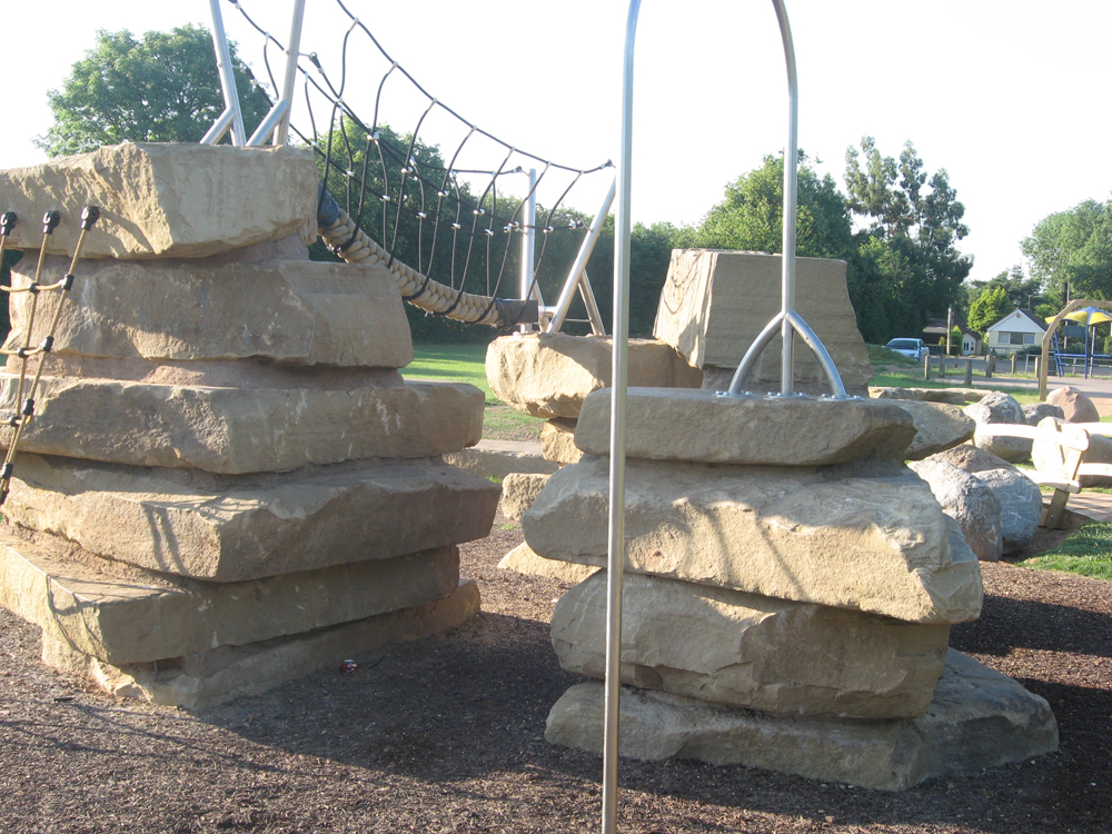 Yorkstone climbing feature at Floyds Field' Coventry.