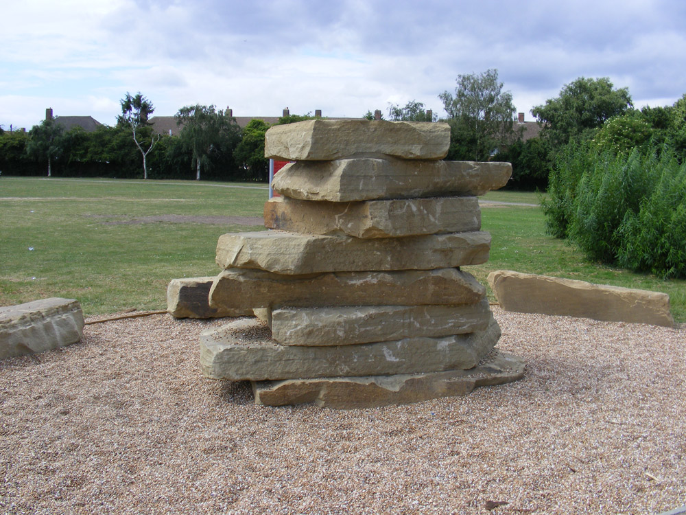 Gravelsafe® and a yorkstone climbing tower at Oakleigh Recreation Ground' Mitcham.