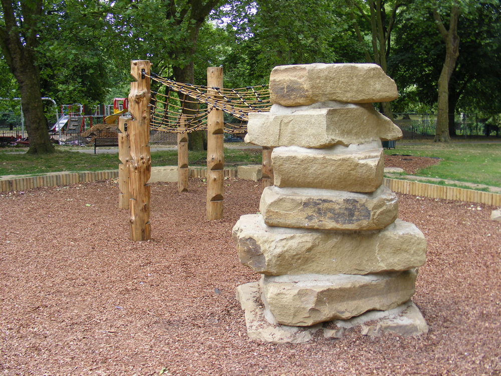 Yorkstone climbing tower at Pymmes Park