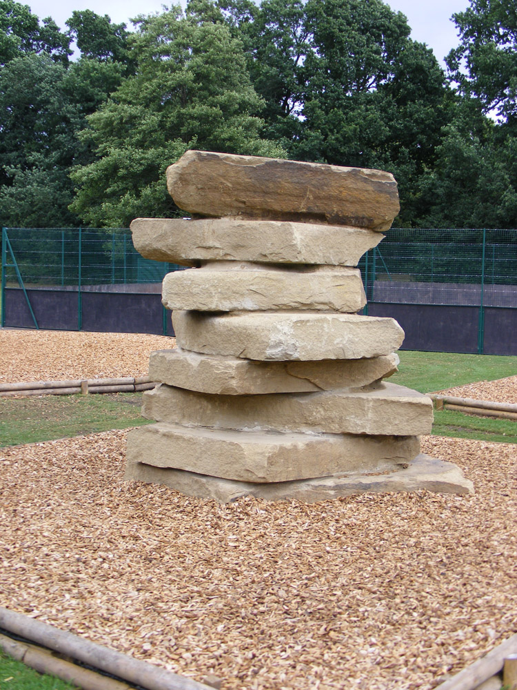 Yorkstone climbing towers at Sandhurst Memorial Park.