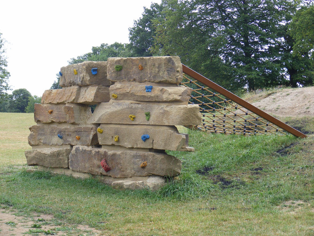 Yorkstone climbing feature at Shephalbury Park' Herts
