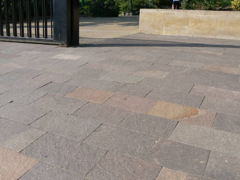 Porphyry Paving laid at The Horniman Museum' London