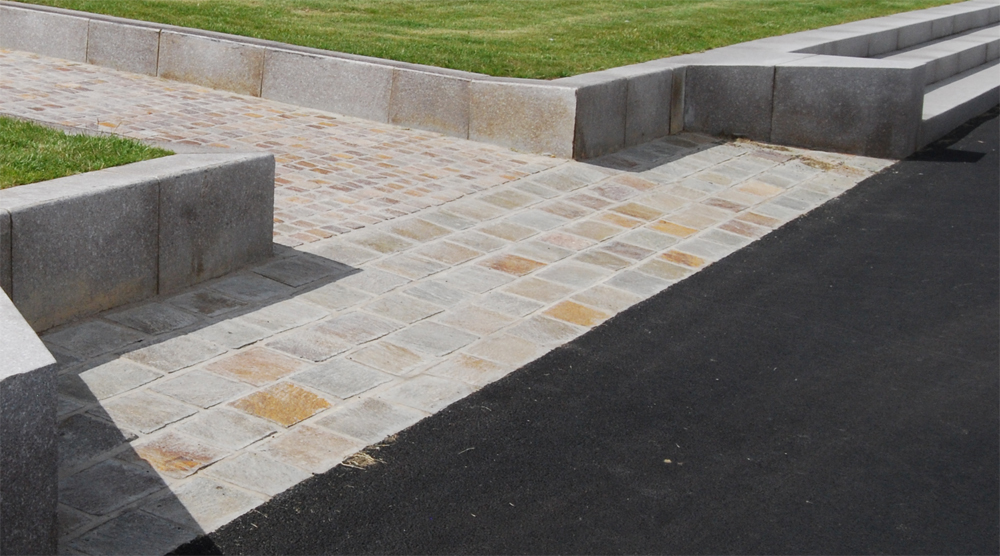 Porphyry paving and setts at Seaburn Seafront' Sunderland. For further images and info on this job please visit our Projects Gallery.