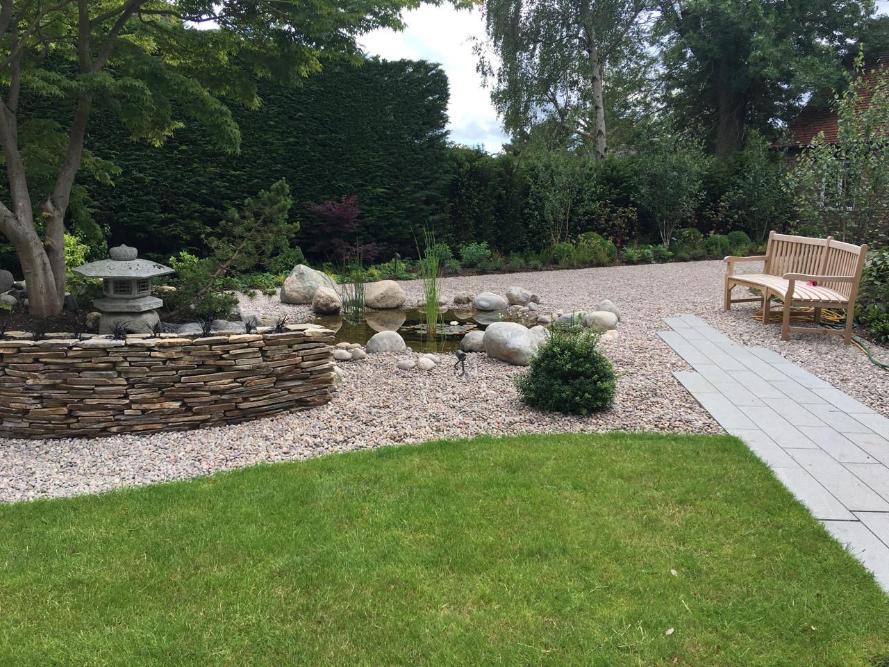 Private Garden By Amanda Broughton Using Granite Plank