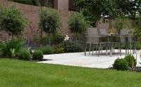 Yellow Granite Paving used in a private garden, designed by Lisa Cox