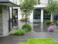 Private garden (pictured here when wet).