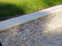 Yellow Quartz Paddlestone Walling Designer: Julie Toll Ltd Contractor: Sienna Earth Ltd