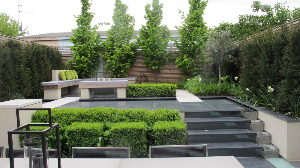 Black Basalt Paving In A Private Garden By Charlotte Rowe